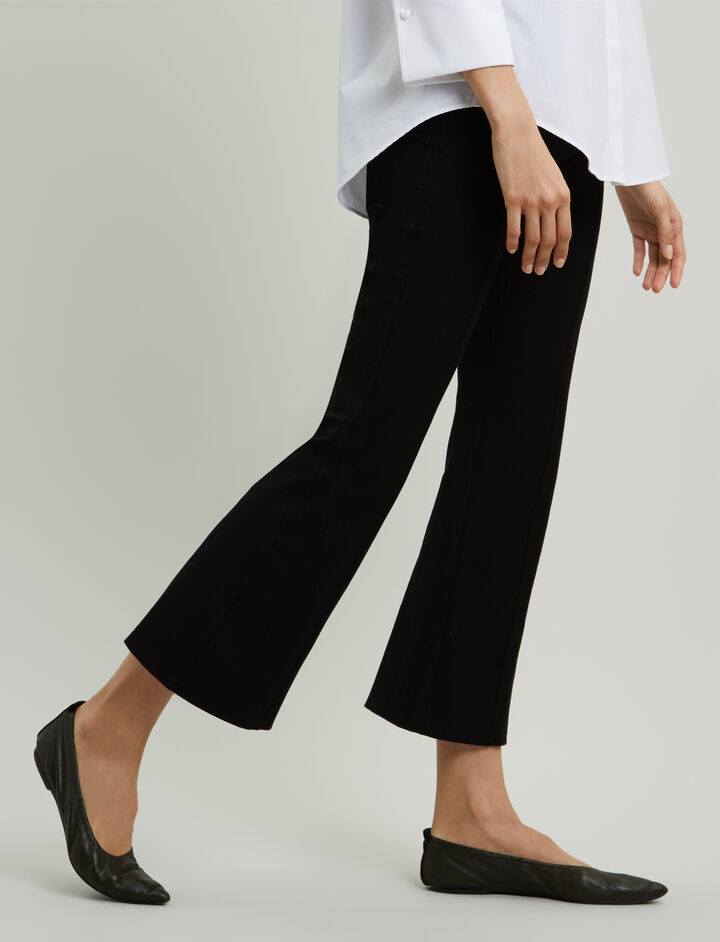 Joseph, Zed Gabardine Stretch Trousers, in BLACK