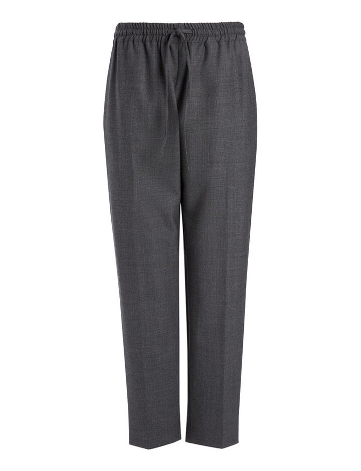 Comfort Wool Loulou Trousers, in GRAPHITE, large | on Joseph