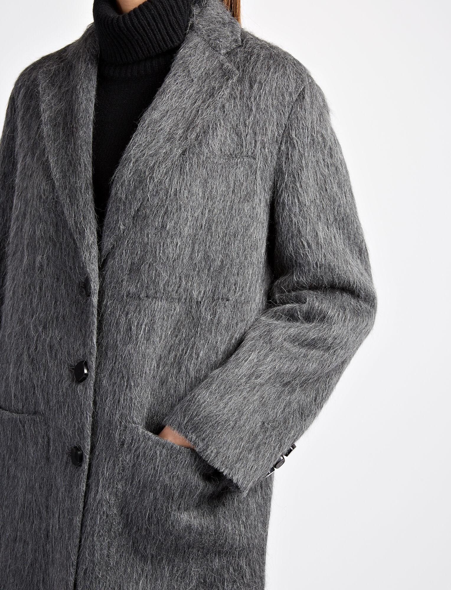 Joseph, Double Alpaca Jimo Coat, in GRAPHITE