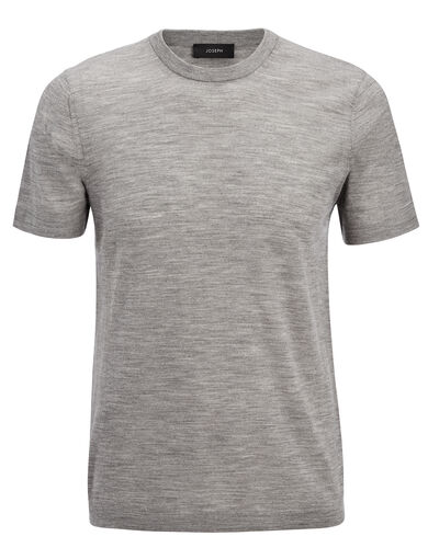 Light Merinos Tee, in GREY CHINE, large | on Joseph