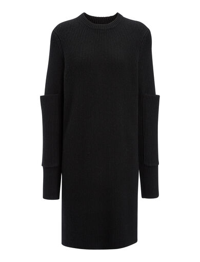 Cashmere Luxe Tunic, in BLACK, large | on Joseph