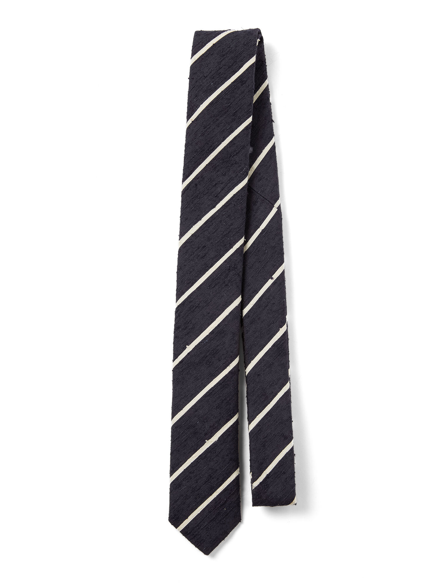 Joseph, Silk Stripes Tie, in NAVY/ECRU