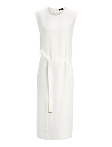 Textured Viscose Easton Dress, in BONE, large | on Joseph