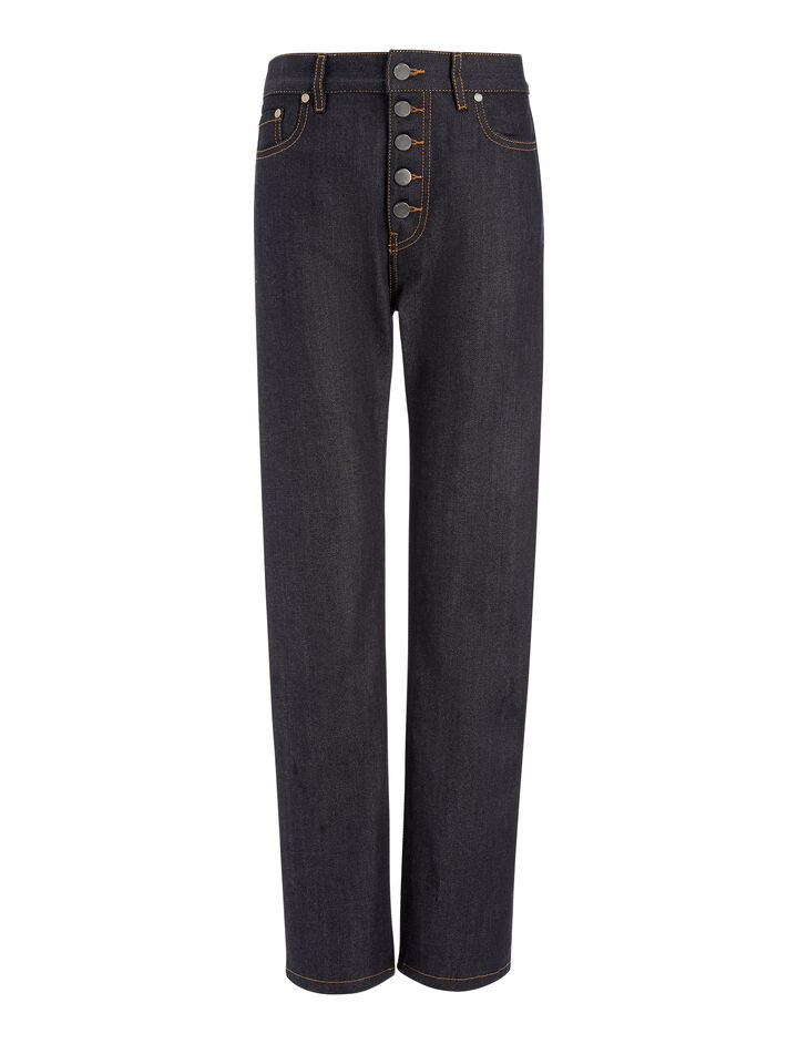 Pantalon Den en denim stretch, in DARK INDIGO, large | on Joseph