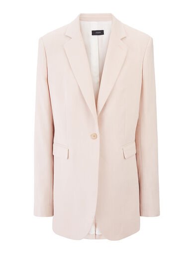 Linen Cotton Stretch Laurent Jacket, in CAMEO, large | on Joseph
