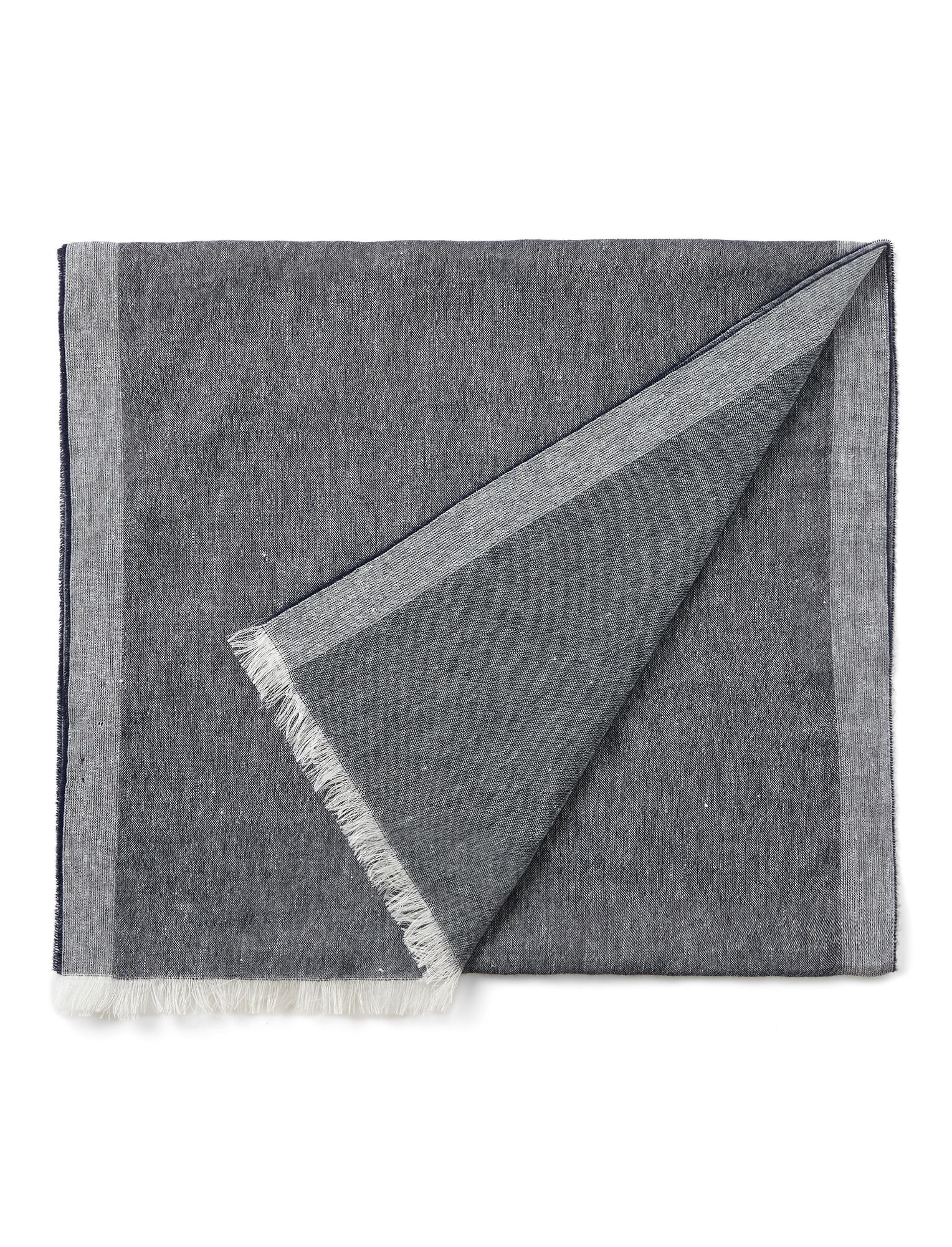 Cashmere Linen Scarf, in NAVY, large | on Joseph