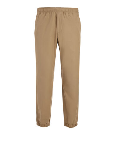 Light Cotton Epping Trouser, in CLAY, large | on Joseph