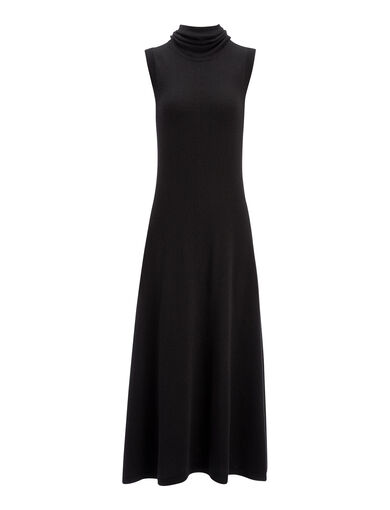 Robe Joane en laine douce, in BLACK, large | on Joseph