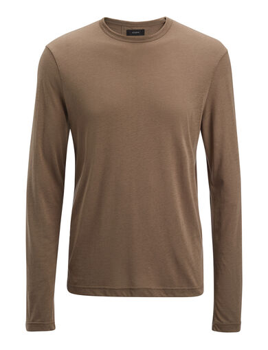 Lyocell Jersey Top, in MILITARY, large | on Joseph