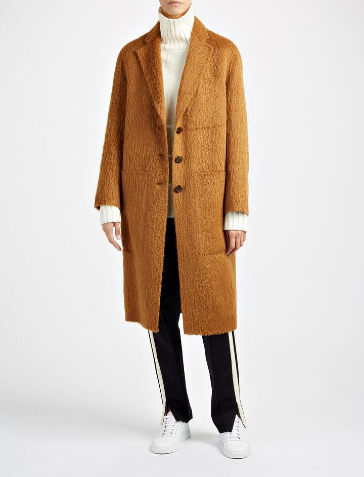 Double Alpaca Jimo Coat, in TOFFEE, large | on Joseph