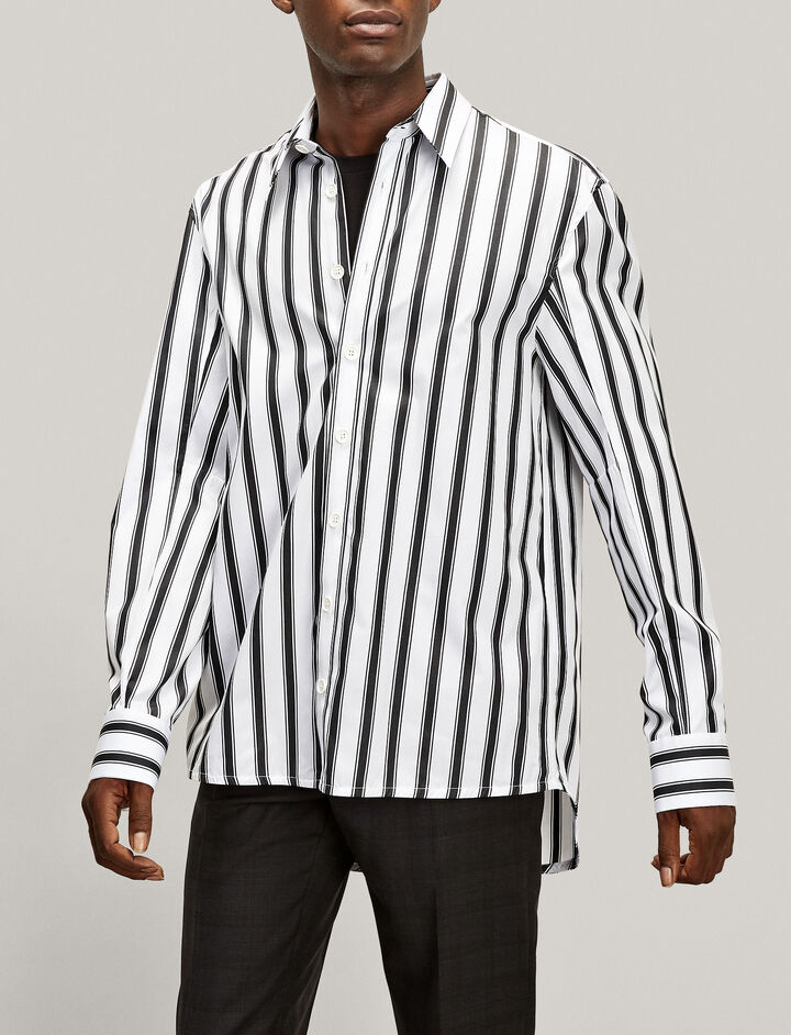 Joseph, Jean Marc Graphic Stripes 3 Shirt, in WHITE