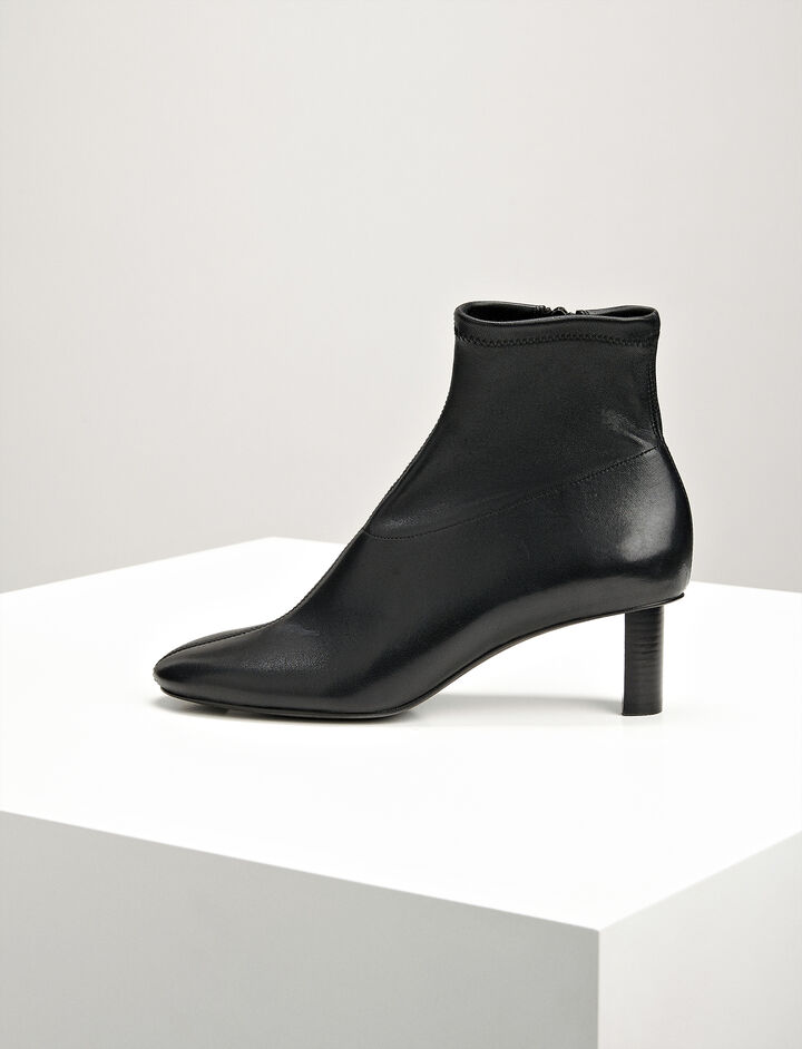 Joseph, Nappa Leather Can Can Boot, in BLACK