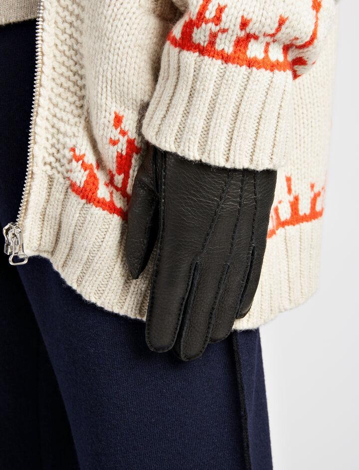 Cervo Gloves, in BLACK, large   on Joseph