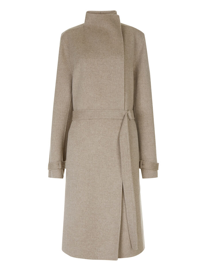 Joseph, New Lima Double Cashmere Coat, in MARBLE