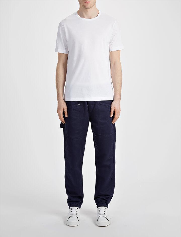 Tee shirt en jersey mercerisé, in WHITE, large | on Joseph