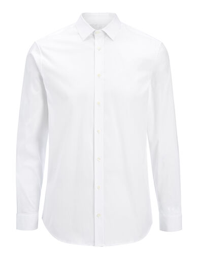 Chemise Jim en popeline stretch, in WHITE, large | on Joseph