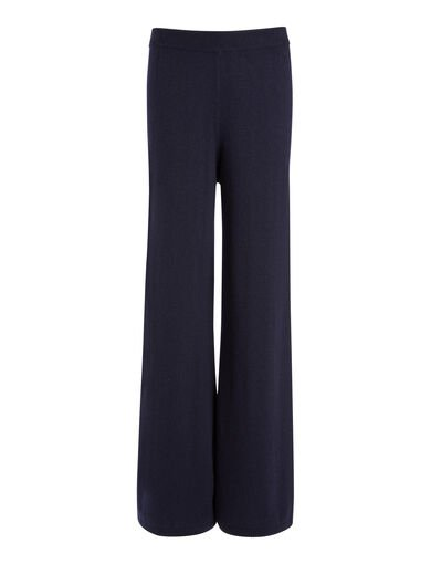 Mongolian Cashmere Trousers, in NAVY, large | on Joseph