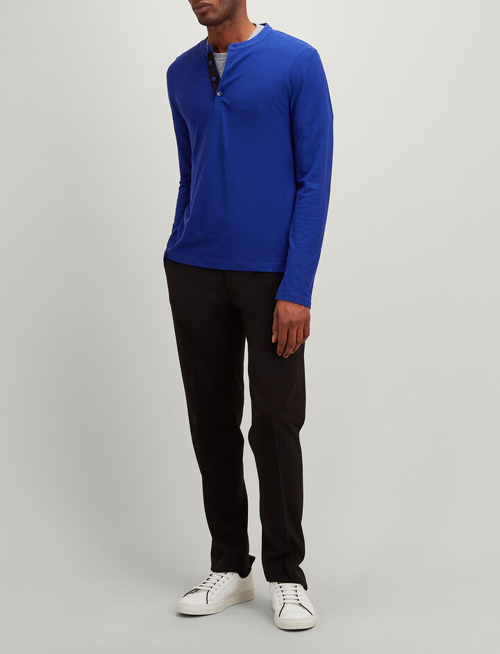 Ice Jersey Henley, in COBALT BLUE, large | on Joseph