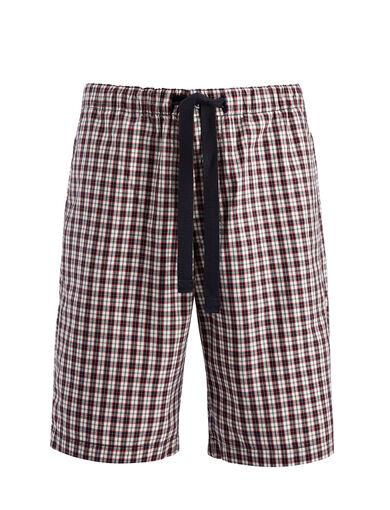 Check Shirting Abington Shorts, in WHITE, large | on Joseph