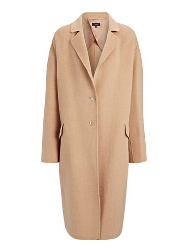 Light Double Cashmere Sido Coat, in ALMOND, large | on Joseph
