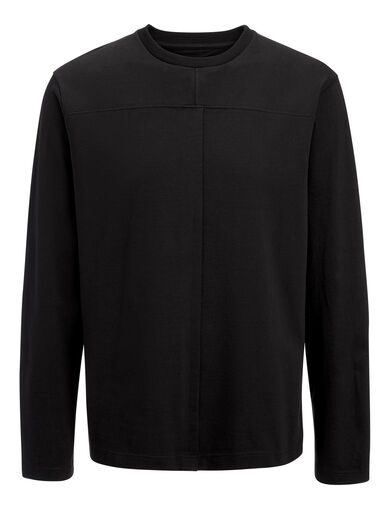 Heavy Tshirting Jersey Top, in BLACK, large | on Joseph