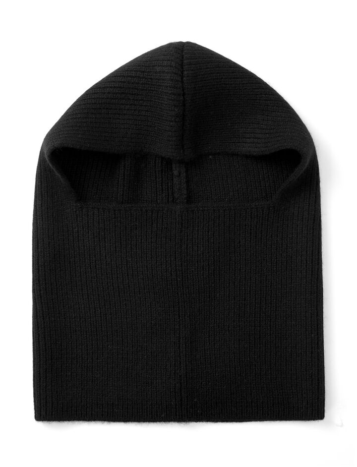 Cashmere Luxe Hood, in BLACK, large | on Joseph