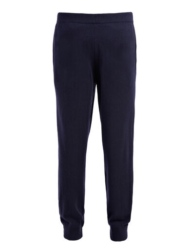 Pantalon jogger en cachemire de Mongolie, in NAVY, large | on Joseph
