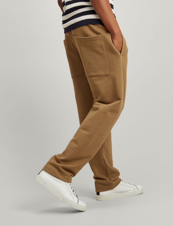 Jersey Sweat Trackpants, in TAWNY, large   on Joseph