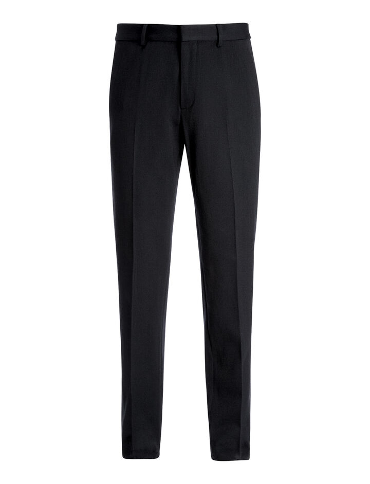 Wool Cotton Twill Jack Trousers, in NAVY, large | on Joseph