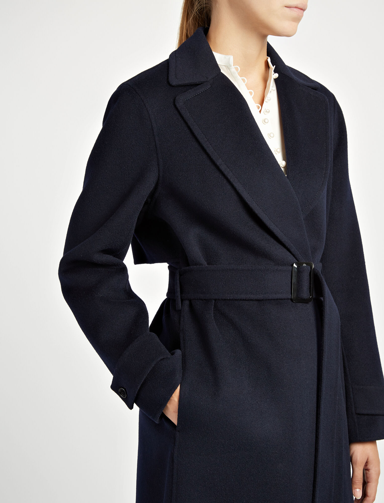 Joseph, Double Face Cashmere Dale Coat, in NAVY