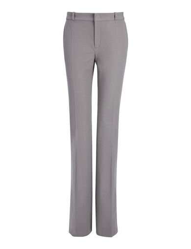 Pantalon New Rocket en gabardine stretch, in GREY, large | on Joseph