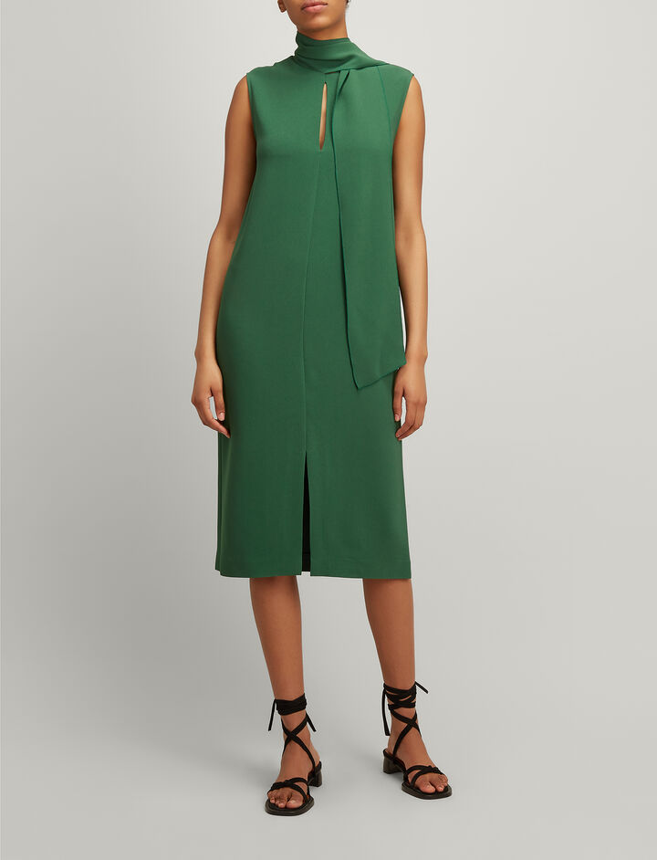 Joseph, Viscose Cady Noon Dress, in EMERALD