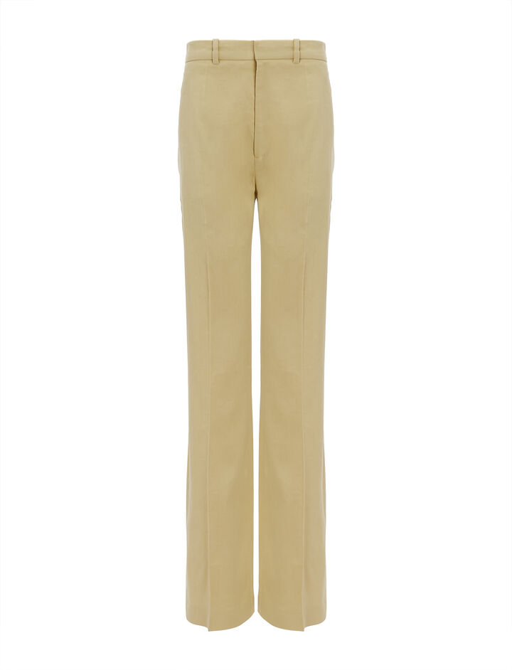 Joseph, Linen stretch Ferguson Trousers, in CUSTARD