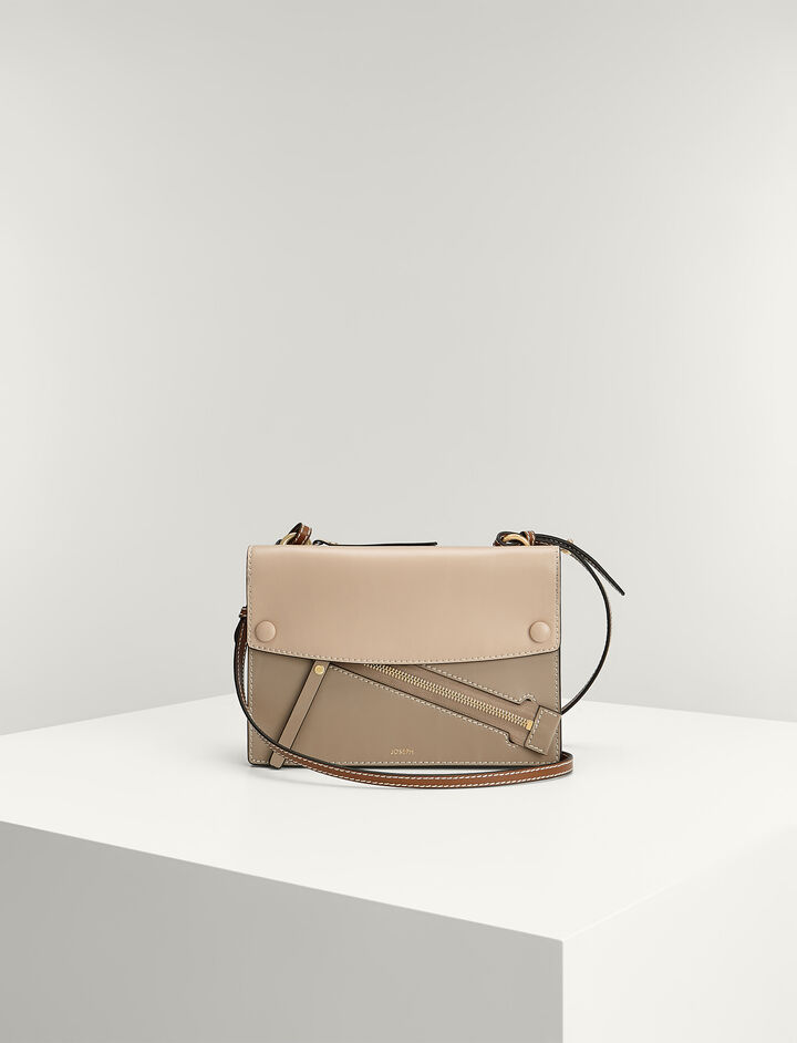 Joseph, Calf-leather Fleet Bag , in MULTICO BROWN