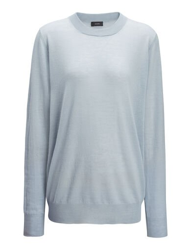 Pull en cashair, in POWDER BLUE, large | on Joseph