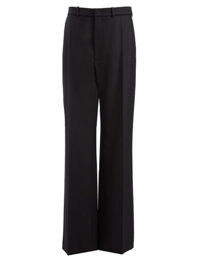 Flannel Stretch Fergus Trousers, in BLACK, large | on Joseph