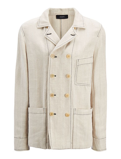 Hessian Suiting Boston Jacket, in HEMP, large | on Joseph