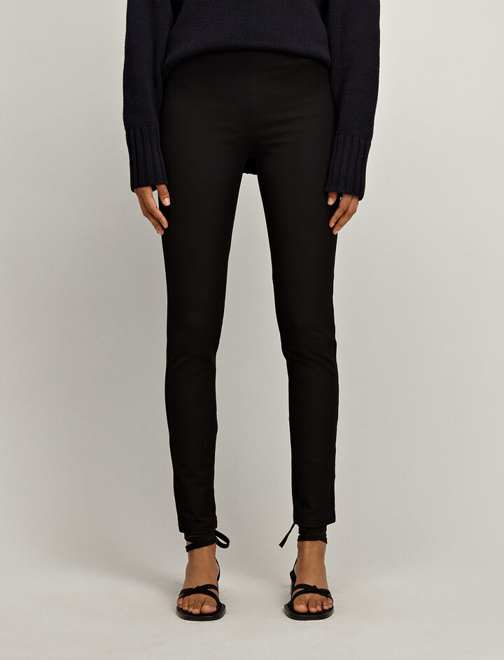 Joseph, Gabardine Stretch Leggings, in BLACK