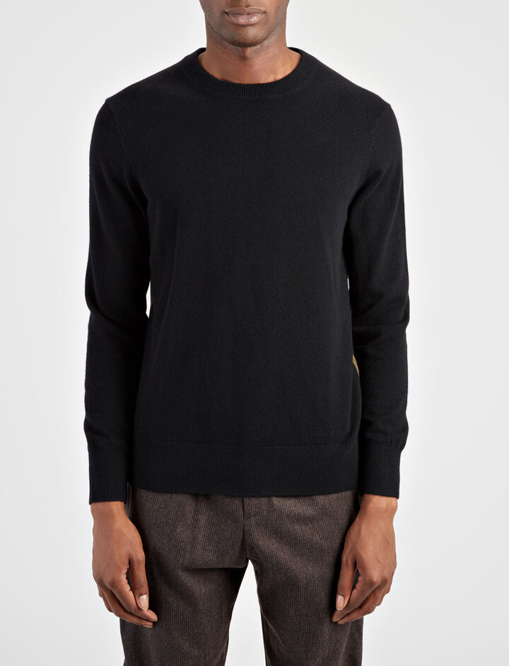 Mongolian Cashmere Sweater, in BLACK, large | on Joseph