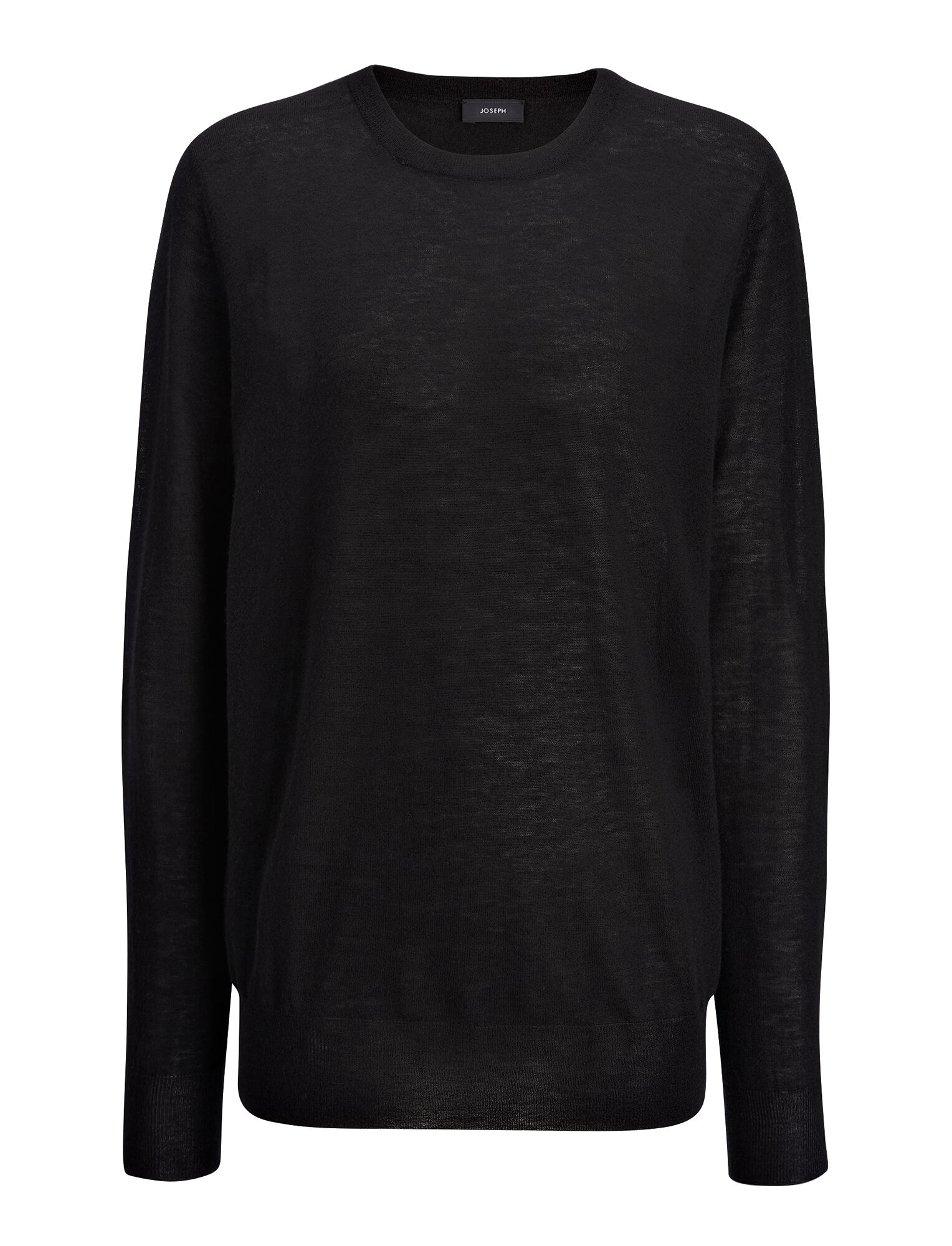 Joseph, Cashair and Patch Sweater, in BLACK