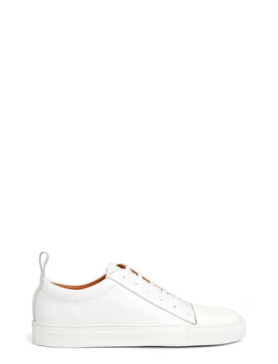 Calf Leather Murray Trainers, in WHITE, large | on Joseph