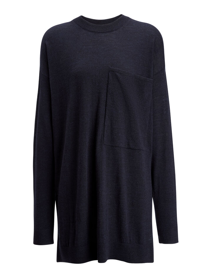Fine Merinos Tunic, in NAVY, large | on Joseph