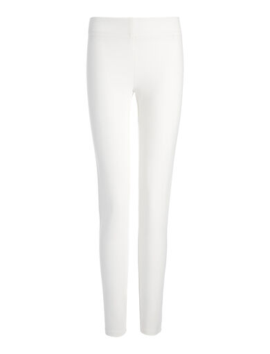 Legging en gabardine stretch, in OFF WHITE, large | on Joseph