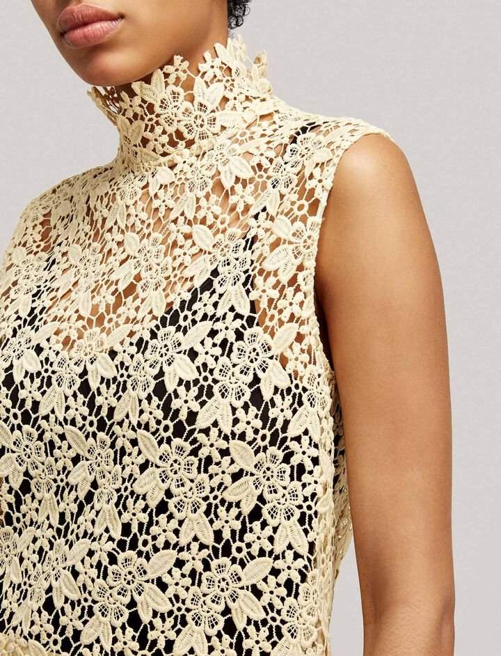 Joseph, Court Crochet Lace Blouse, in BUTTER