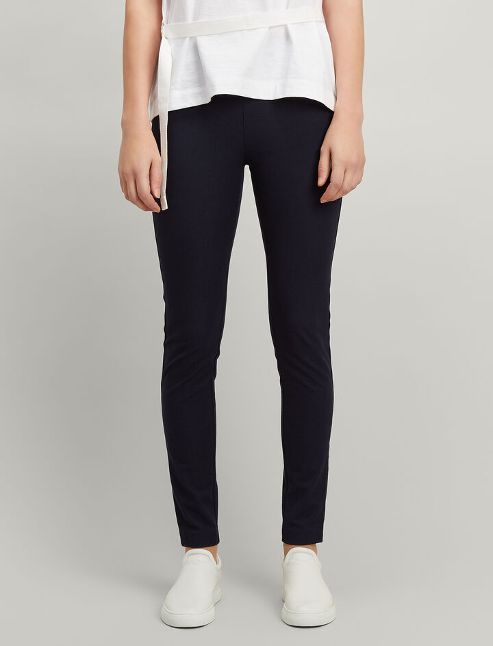 Joseph, Gabardine Stretch Leggings, in NAVY