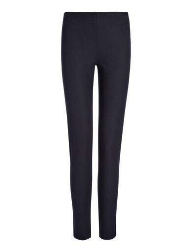 Gabardine Stretch Legging, in NAVY, large | on Joseph