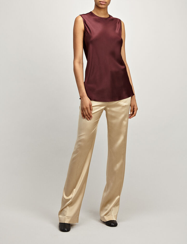 Joseph, Silk Satin Lyle Blouse, in MORGON