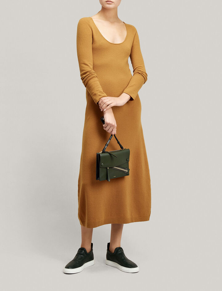 Joseph, Jahan Wool Stretch Dress, in CAMEL