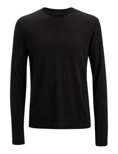 Lyocell Jersey Top, in BLACK, large | on Joseph