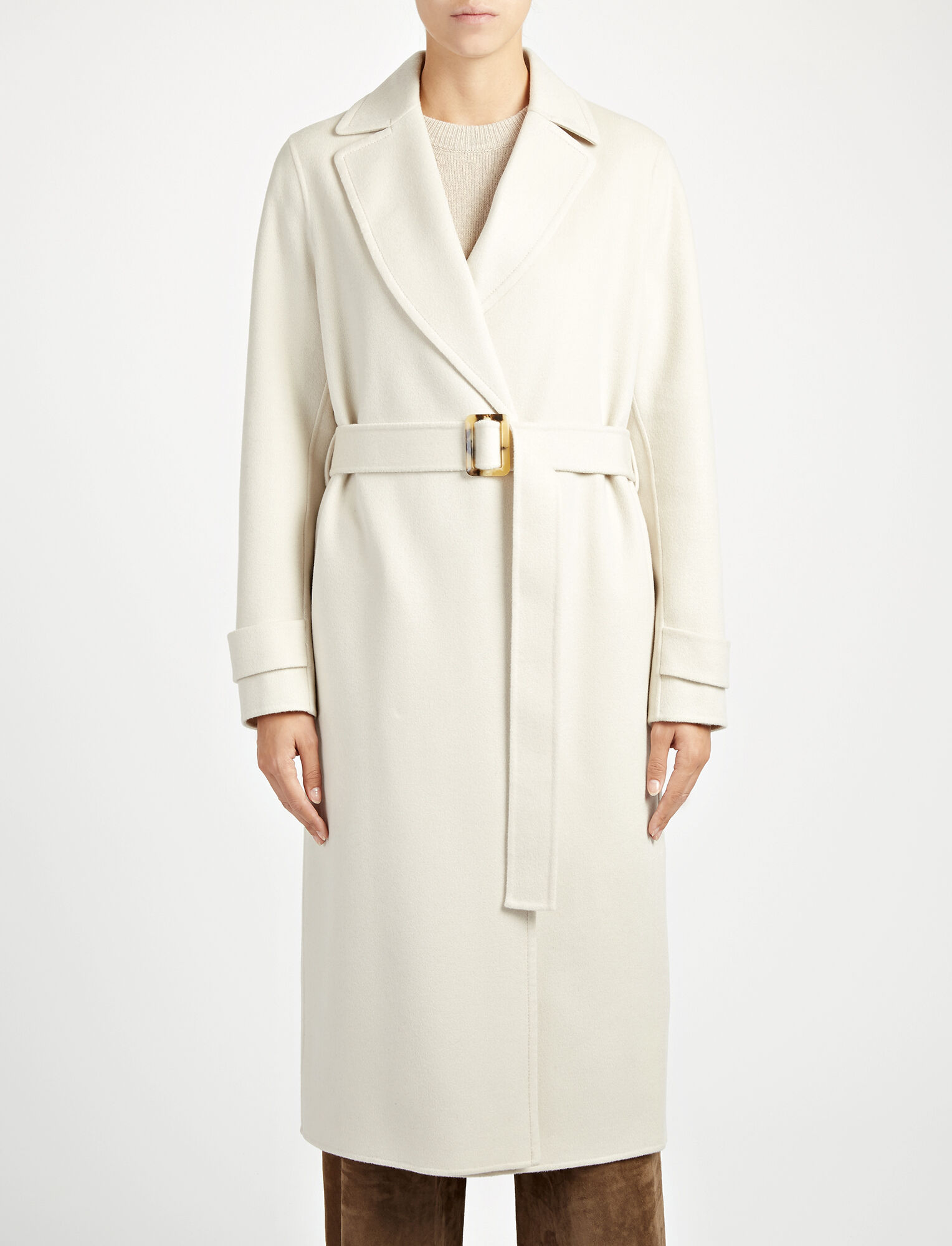 Joseph, Double Face Cashmere Dale Coat, in BONE